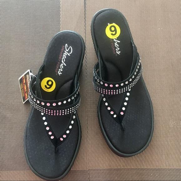 Cali Sandals W Memory Foam Sz 9 Nwt